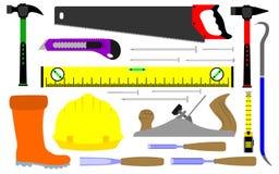 Diversas clases de herramientas de los constructores ilustración del vector