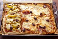 Diversas clases de pizza Imagenes de archivo