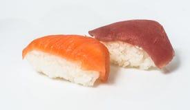 Diversas clases de sushi y de sashimi Fotos de archivo