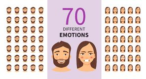 Diversas emociones libre illustration