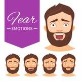 Diversas emociones ilustración del vector