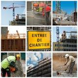 Diversas escenas de la construcción de los sitios Fotografía de archivo libre de regalías