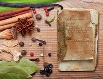Diversas especias e hierbas Fotografía de archivo libre de regalías