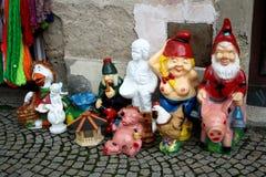 Diversas estátuas decorativas do jardim Fotos de Stock