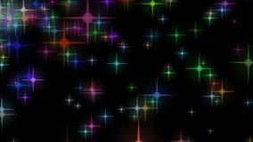 Diversas estrellas de los colores stock de ilustración