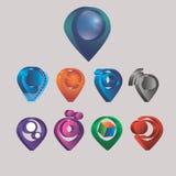 Diversas etiquetas de la tarjeta de los indicadores 3d Imágenes de archivo libres de regalías