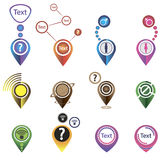 Diversas etiquetas de la tarjeta de los indicadores 3d Fotografía de archivo libre de regalías