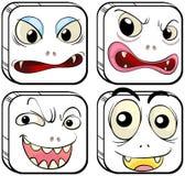 Diversas expresiones faciales Imagen de archivo