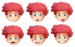Diversas expresiones faciales Imagen de archivo libre de regalías