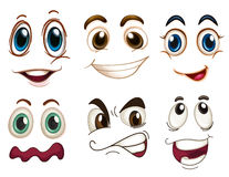 Diversas expresiones faciales Fotos de archivo