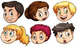 Diversas expresiones faciales ilustración del vector