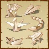Diversas figuras del papel libre illustration