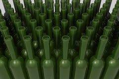 Diversas formas de botellas de cristal stock de ilustración