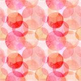 Diversas formas de los círculos rosados anaranjados brillantes transparentes maravillosos blandos artísticos hermosos abstractos  Fotos de archivo libres de regalías