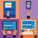 Diversas formas de pago Fotografía de archivo
