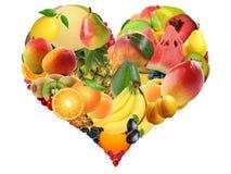 Diversas frutas con diversos texturas, modelos y colores Imagen de archivo libre de regalías