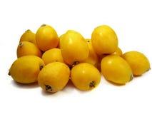 Diversas frutas do loquat imagens de stock