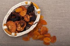 Diversas frutas secadas Fotografía de archivo libre de regalías