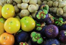 Diversas frutas tailandesas Foto de archivo libre de regalías