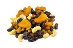 Diversas frutas y nueces secadas Imagen de archivo libre de regalías