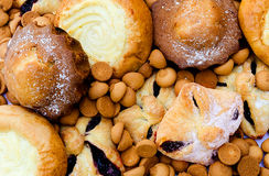 Diversas galletas se cierran para arriba Imagenes de archivo