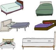 Diversas historietas de la cama Imágenes de archivo libres de regalías