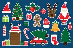 Diversas imágenes coloridas de la Navidad para los niños, juego para los niños, actividad preescolar, sistema de la educación de  ilustración del vector
