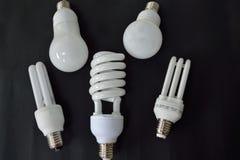 Diversas lámparas ahorros de energía - imagen opcional imagen de archivo