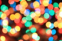 Diversas luces borrosas del color Fotografía de archivo