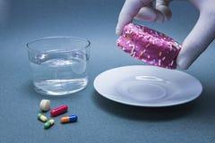 Diversas medicinas para combatir la diabetes adelante Imagen de archivo libre de regalías