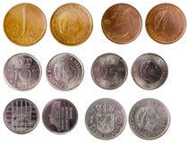 Diversas monedas viejas de Países Bajos imagenes de archivo
