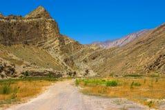 Diversas montañas en Turkmenistan Foto de archivo
