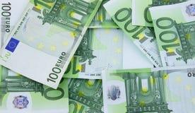 Diversas notas euro Fotos de archivo libres de regalías