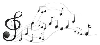 Diversas notas musicales Imagen de archivo libre de regalías