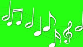 Diversas notas musicales que fluyen stock de ilustración