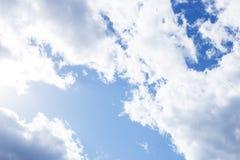 Diversas nubes, lugar para el texto Imagen de archivo libre de regalías