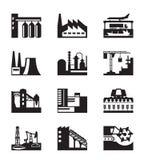 Diversas plantas industriales Fotos de archivo libres de regalías