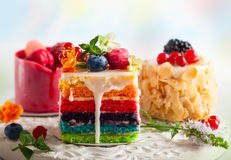 Diversas rebanadas de tortas Fotografía de archivo