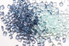 2 diversas resinas plásticas transparentes Imagen de archivo