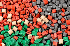 Diversas resinas teñidas del polímero Imagen de archivo libre de regalías