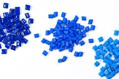 3 diversas resinas teñidas del polímero Foto de archivo