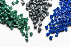 Diversas resinas tingidas do polímero Fotografia de Stock Royalty Free
