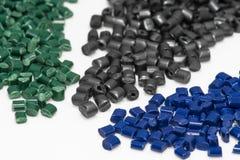 Diversas resinas tingidas do polímero Fotografia de Stock