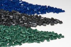 Diversas resinas tingidas do polímero Imagem de Stock Royalty Free