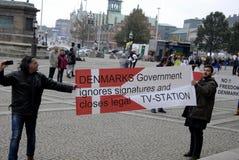 DIVERSAS REUNIONES DE LA PROTESTA Fotografía de archivo libre de regalías