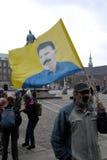 DIVERSAS REUNIONES DE LA PROTESTA Imagen de archivo libre de regalías