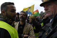 DIVERSAS REUNIONES DE LA PROTESTA Foto de archivo libre de regalías