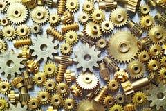 Diversas ruedas dentadas de la talla Imagen de archivo