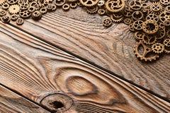 Diversas ruedas dentadas del metal y ruedas de engranaje fotos de archivo libres de regalías