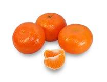 Diversas tangerinas, isoladas Imagens de Stock Royalty Free